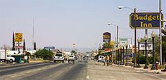 The main drag through Van Horn. Van Horn is the westernmost town in the U.S. Central Time Zone.