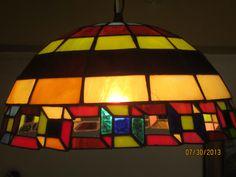 Lámpara colgante con formas geométricas