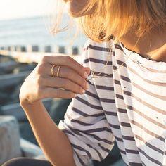 Stripes and my gold ring x Chupi