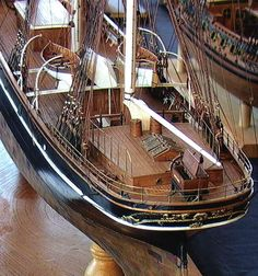 Cutty Sark ship model detail