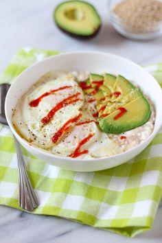 Cheesy Savory Oatmeal[2304x3456 #foodporn #food #foodie #yummy #yum #foodgasm #nomnom #delicious #recipe
