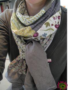 038d8c3715da avec des chutes de tissus imprimés Tuto Couture Foulard, Couture Tricot,  Tuto Foulard,