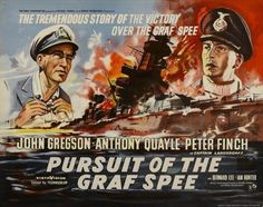River Plate images -The Treaty of Versailles had forbidden Germany from making what would have been considered to be classic battleships. To get round the restrictions of Versailles, Germany produced pocket battleships. The Graf Spee was commissioned in Uss Salem, John Gregson, Peter Finch, Ian Hunter, Spanish Posters, War Film, Cinema Film, Rio, English Movies
