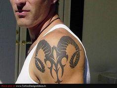 ram tattoo | Tatto design of Aries Tattoos ram - TattooDesignsIdeas.in