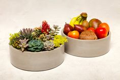 From Auré Aura: Concrete Planter - Natural Grey Concrete Planter, Concrete Bowl or Concrete Container for a unique candle display.