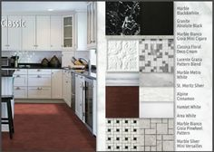 Tile color palette choices for the Sothern Living home: Emser Tile - Coordinates Classic