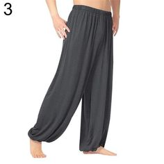 AC/_ Unisex Sport Jogger Baggy Trouser Jumpsuit Harem Yoga Pants Bottom Slacks St