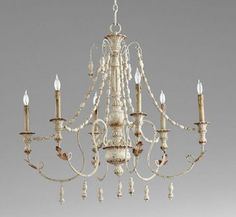 Beautiful Lyon Candle Style Classic Traditional Chandelier by Cyan Design Lighting Home Decor Furniture from top store White Chandelier, Candle Chandelier, Chandelier Lighting, Mediterranean Chandeliers, Chandelier Makeover, Cyan, Iron Chandeliers, Elegant Chandeliers, Retro Renovation