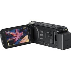 Canon - VIXIA HF R50 8GB HD Flash Memory Camcorder - Black - AlternateView3 Zoom