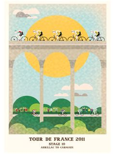 Omaggio al Tour de France in 23 poster e illustrazioni |  #CICLOGRAFICA | #Bici #vintage #restaurate | #oldstyle #retro #bike #bicycle #velo #poster #illustration #graphics #type #Tour #Tourdefrance #TourdeFrance2014