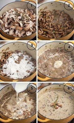 Homemade Mushroom Soup, Best Mushroom Soup, Creamy Mushroom Soup, Crockpot Mushrooms, Creamed Mushrooms, Stuffed Mushrooms, Healthy Soup Recipes, Veg Recipes, Mushrooms