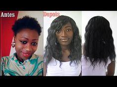 Tutorial : Aplique de tela no cabelo curtissimo (técnica estranha más fonciona) - YouTube