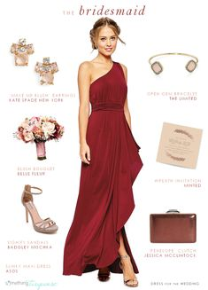 956517ef6931 Burgundy red bridesmaid by Dress for the Wedding for Something Turquoise  Fall Wedding Bridesmaids