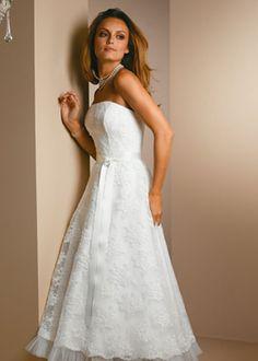 Wedding dress - tea length