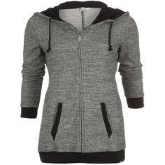 Oh Knit Zip-up Hoodie ($55) ❤ liked on Polyvore featuring tops, hoodies, jackets, outerwear, sweaters, print hoodie, knit top, zip up tops, hooded sweatshirt and sweatshirt hoodies