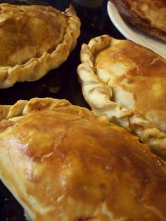 Now these are beautiful cornish pasties (pah - steez)