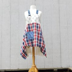 4th Of July, Summer Jumper, Flag Dress, Upcycled, Overalls, Denim Tunic, Up-cycled Clothing, Reclaimed, Upcycled Dress, Boho, CreoleSha Rustic Outfits, Country Outfits, Boho Outfits, Sexy Outfits, Trendy Outfits, Summer Jumpers, Flag Dress, Denim Tunic, Altering Clothes