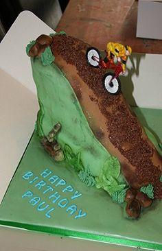 "mountain bike cake...haha...it's even for ""Paul"""