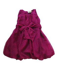 Fuchsia Polka Dot Bubble Dress - Toddler & Girls by Atelier by Sophie Catalou on #zulily today!