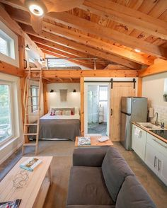 My name is Chris Daniele (aka and I'm going to be taking over Tiny House Movement for the next couple… Tyni House, Tiny House Loft, Modern Tiny House, Tiny House Design, Tiny House On Wheels, Small House Plans, Tiny Cabin Plans, Best Tiny House, Tiny Cabins