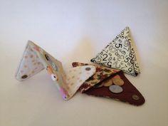 Porta moeda triangular origami- Passo a Passo