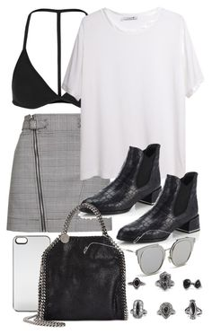 """""""Untitled #10824"""" by theleatherlook ❤ liked on Polyvore featuring Topshop, T By Alexander Wang, Stuart Weitzman, Zero Gravity, STELLA McCARTNEY, GANT and BKE"""
