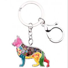 German Shepherd dog pendant key chains for men women silver color alloy metal pet dog bag charm car keychain key ring holder keyring Fashion Animal Jewelry keychain will bring you luck. Blue German Shepherd, Dog Keychain, Dog Bag, Dog Crafts, Cat Supplies, Anubis, Chains For Men, Animal Jewelry, Little Dogs
