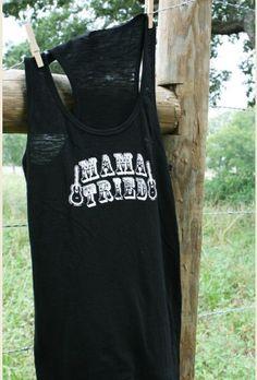mama tried black slub tank