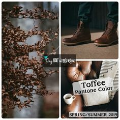 Toffee is a deep brown designated by Pantone as one of the Spring/Summer 2019 Color Trends. #pantone #colortrends