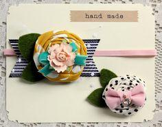 Felt Flower Headband  Felt Flower Hair Clip by TheSnootiePig, $16.99