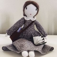 I received a creation from @shopbonbonsito She is Virginia Wolf and I invite you to visit her page to find out why she chose to honour her for our Dollmakers project. We are so thrilled she will be staying with us! She will be treasured and will be a gift for my daughter. #beboldmakedolls  #dollmakersIWD2017 #internationalwomensday  #beboldforchange  #internationalwomensday2017  #iwd1027 #dollmakerscommunity