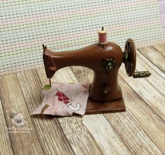 Miniature sewing machine for dolls and doll от SweetMiniDollHouse