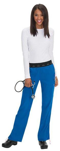 Koi Lite's Spirit Pants  Los pantalones nuevos de alta rendimiento de Koi Lite son fácil de lavar y usar por la tela super suave que no arruga.  Su estilo, los detalles y la cintura de elástico ancho distingan estos pantalones de los demás! Perfecto para la enfermera o doctora que no tiene tiempo para planchar! 100% poliéster Elástico doble Ancho de la cintura