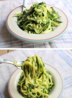 Zucchini spaghetti via http://clementinecuisine.wordpress.com