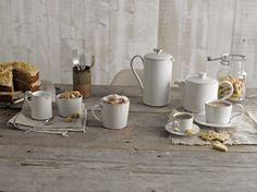 Denby Natural Canvas Cafetiere and Tea Set