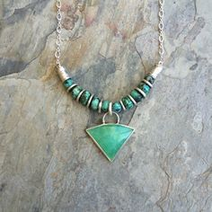 Hey, I found this really awesome Etsy listing at https://www.etsy.com/listing/250741847/chrysoprase-and-turquoise-necklace-with