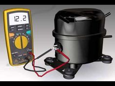 Ohm Testing a Compressor - STEP Remove lower panel screws. - STEP Remove lower front panel from cooler. Electrical Projects, Electrical Installation, Electrical Engineering, Hvac Air Conditioning, Refrigeration And Air Conditioning, Electrical Circuit Diagram, Electrical Wiring Diagram, Hvac Tools, Refrigerator Compressor