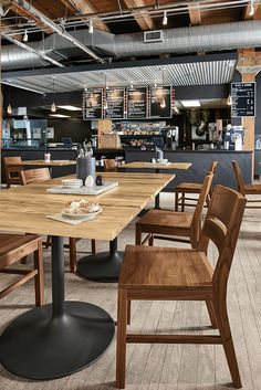 Modern café and restaurant design ideas for hospitality environments. Mexican Restaurant Decor, Restaurant Kitchen Design, Restaurant Exterior, Industrial Restaurant, Modern Restaurant, Restaurant Interior Design, Brewery Interior, Restaurant Ideas, Restaurant Tables And Chairs