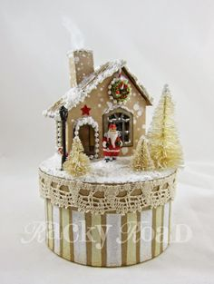Light-up Christmas House, with Tutorial (K.Batsel)