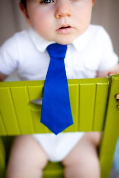Baby Boy Necktie- Royal Blue Tie by Chubby Baby for $12.00 at etsy.com