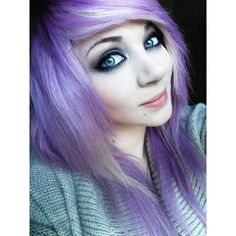 amber mccrackin | Tumblr ❤ liked on Polyvore featuring people, amber mccrackin, girls, purple hair and amber
