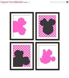 20 OFF SALE Kids artworks room decor minnie mouse by babiesartroom, $28.80