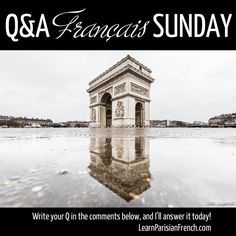 Bon dimanche, les entrepreneurs !  Do you want to master the secrets of the French conversation, so that you can make conversation even if you are a beginner and impress your friends with your confidence?  Take advantage of today's Q&A Français Sunday!  Please WRITE in the comments below your questions, your challenges or frustrations - along with your dreams, desires and goals regarding the French language and everything France and Paris.  P.S. Join me in the Winter Contest!