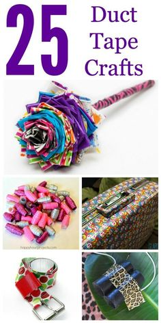 25 Duct Tape Crafts. Check out all the amazingly cute things you can make with Duct Tape!   DIY idea tutorial project party gift decor wreath flowers home