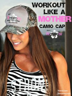 "Fit Mom TV ""Workout like a mother"" Hat! Get this and more from the Fit Mom store and Check out Kiana Tom's Fit Mom TV channel! get effective workouts from the palm of your hands only through the Cinematix app! Fit Mom TV is created by a mom of 3 made just for moms! get it here > https://itunes.apple.com/us/app/cinematix/id625114096?mt=8"