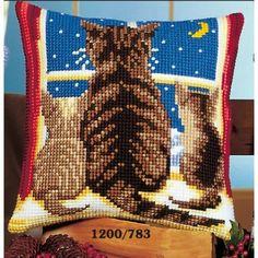 Cross Stitch Charts, Cross Stitch Patterns, Beading Patterns, Knitting Patterns, Christmas Cushions, Bargello, Animal Pillows, Beautiful Cats, Cushion Covers