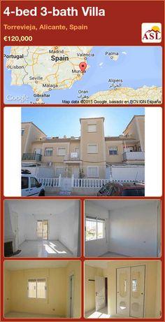 4-bed 3-bath Villa in Torrevieja, Alicante, Spain ►€120,000 #PropertyForSaleInSpain