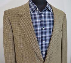 BEAUTIFUL OSCAR DE LA RENTA mens 2 button sport coat blazer 46R 46 regular r   #oscardelarenta #TwoButton