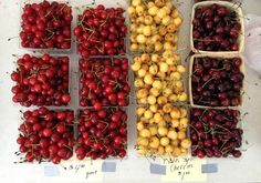 Michigan City Indiana farmers market cherries via Gardenista