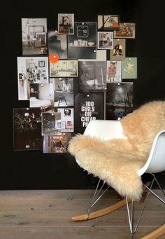 Via VT Wonen | Black Magnetized Wallpaper | Eames Rocker